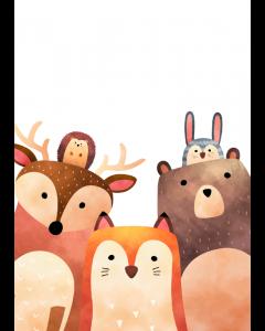 Plakat Skovens Dyr