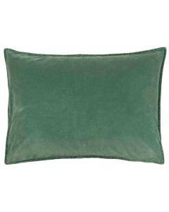 Pude 70x50cm Velour - Grøn