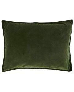 Pude 70x50cm Velour - Mørkegrøn