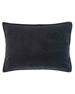 Pude 70x50cm Velour - Midnatsblå