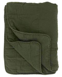 Quilt tæppe - Mørkegrøn