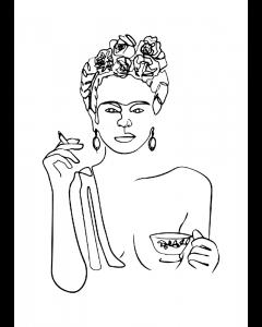 Plakat Frida Kahlo - One Line