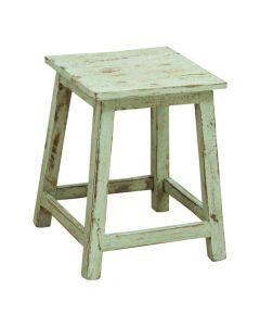 Træskammel - Vintage grøn