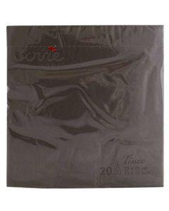 Sovie 33x33 3-lags 20stk serviet - Brun