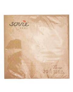 Sovie 33x33cm 3-lags 20stk serviet - Kobber/Bronze