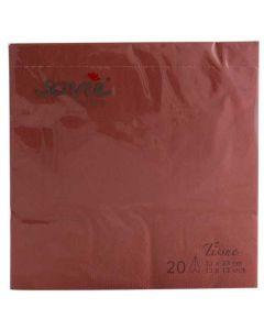 Sovie 33x33 3-lags 20stk serviet - Terracotta
