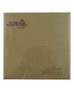 Sovie 40x40 3-lags 20stk serviet - Guld