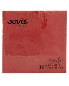 Sovie stofligende serviet 40x40cm - 12stk Bordeaux