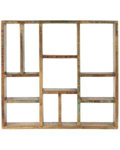 Væghylde m/forskellige rum UNIKA
