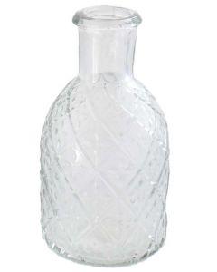 Vase glas m/mønster