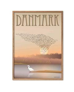 ViSSEVASSE Plakat - Danmark Sort sol