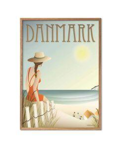 ViSSEVASSE Plakat - Danmark Stranden