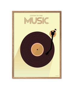 ViSSEVASSE Plakat - Listen To The Music
