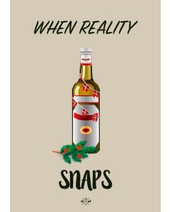 Hipd A5 Julekort - When reality snaps